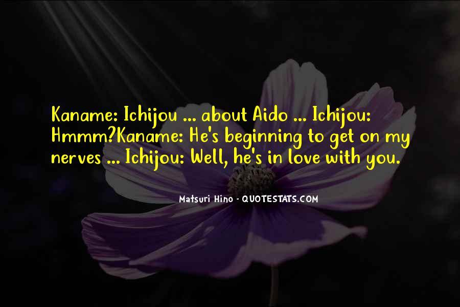 Matsuri Hino Quotes #62115