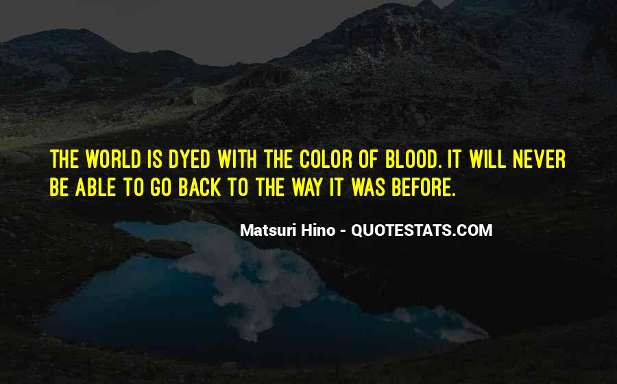 Matsuri Hino Quotes #709229