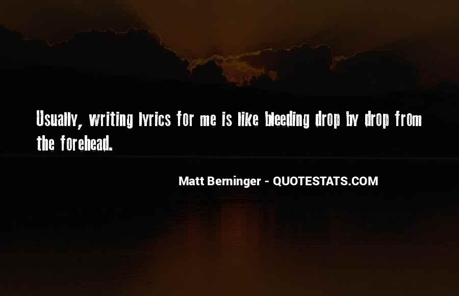 Matt Berninger Quotes #352852