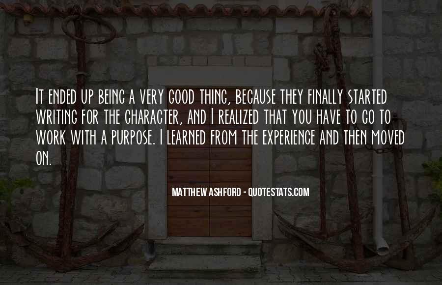 Matthew Ashford Quotes #1022930
