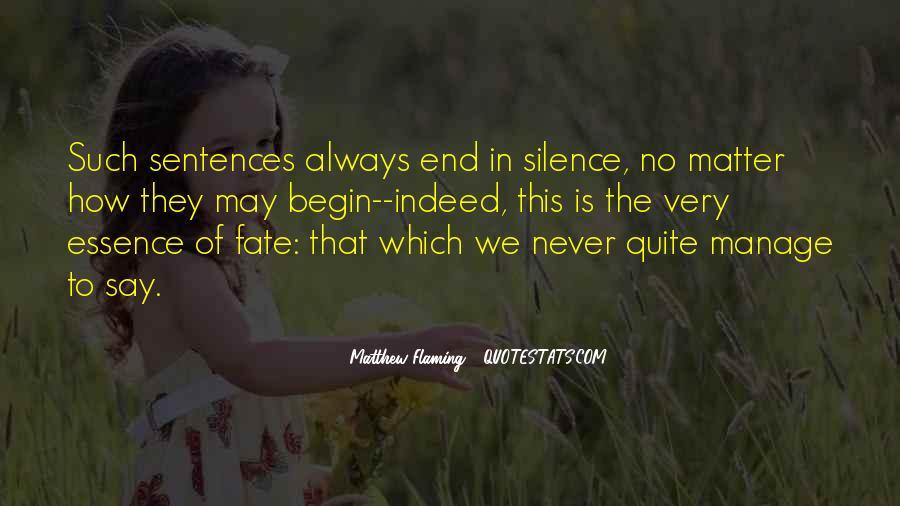 Matthew Flaming Quotes #274551