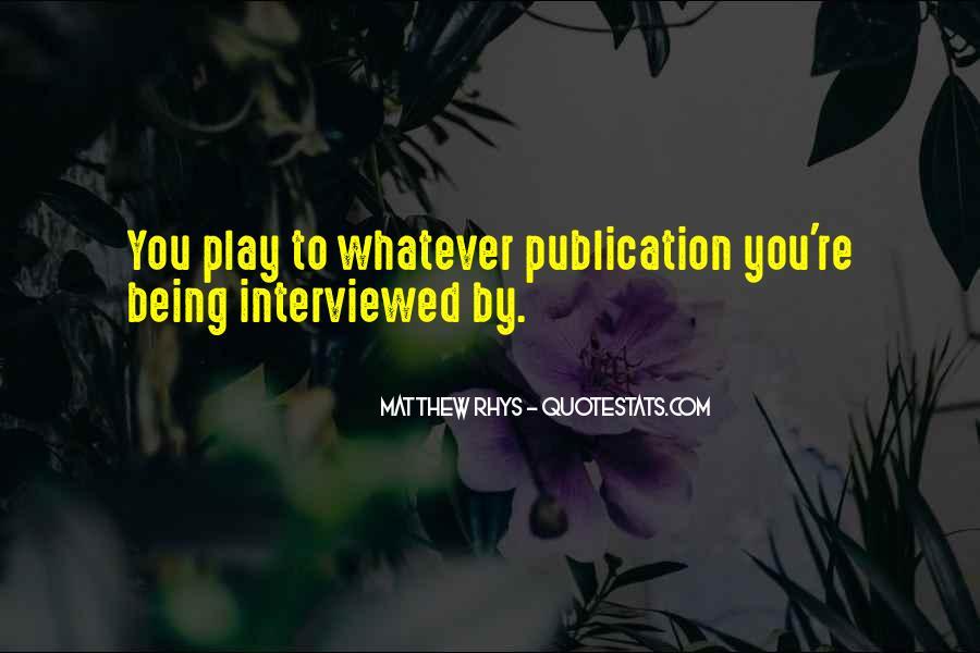 Matthew Rhys Quotes #1751817