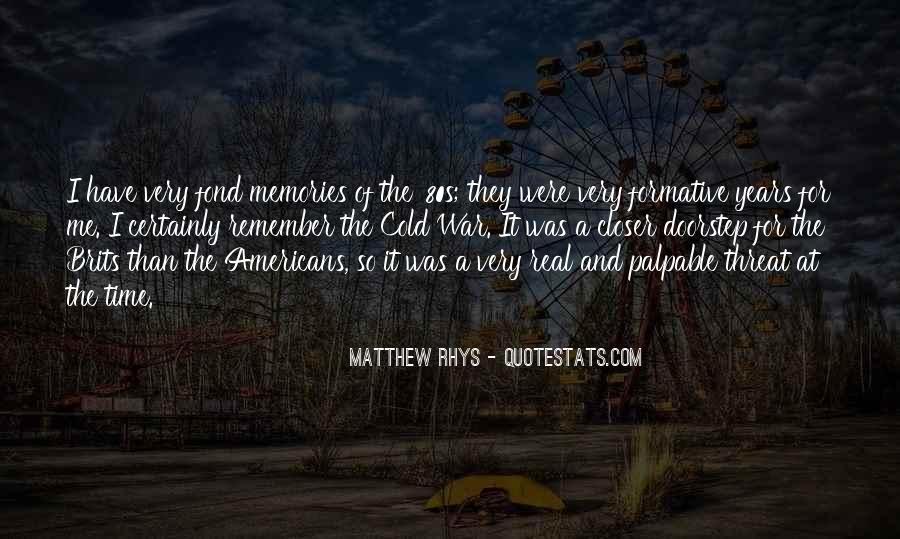 Matthew Rhys Quotes #806456