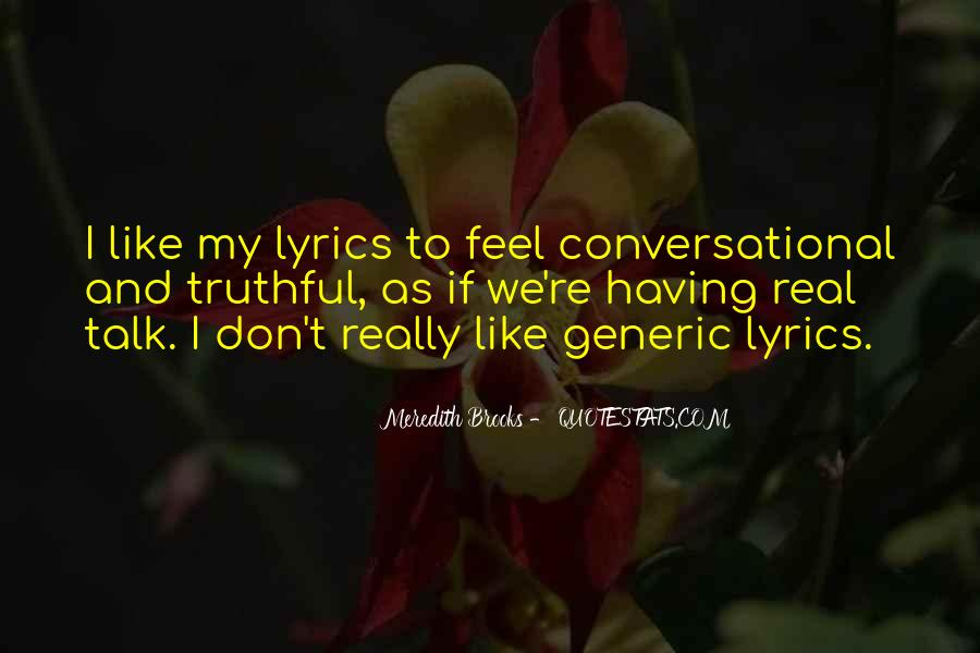 Meredith Brooks Quotes #1082836