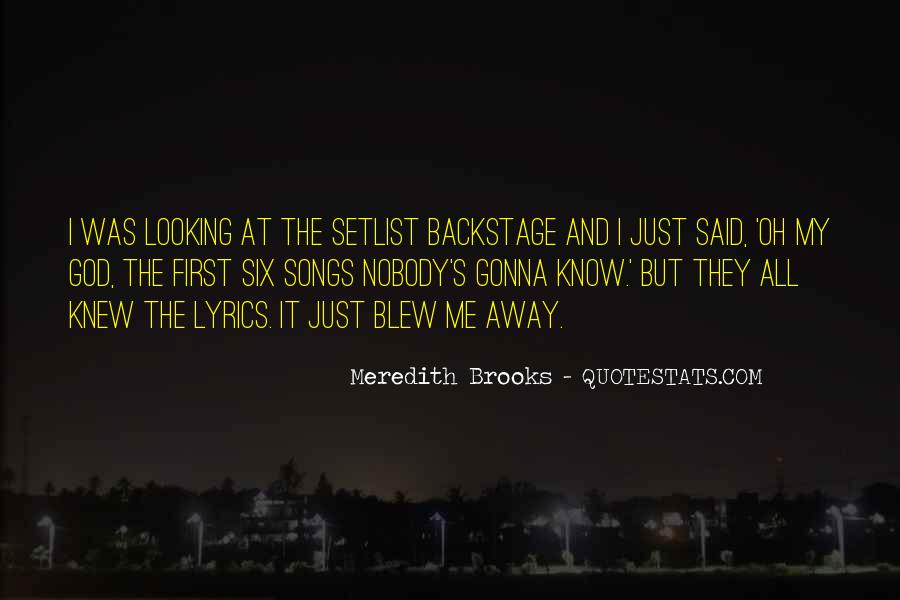Meredith Brooks Quotes #1320206