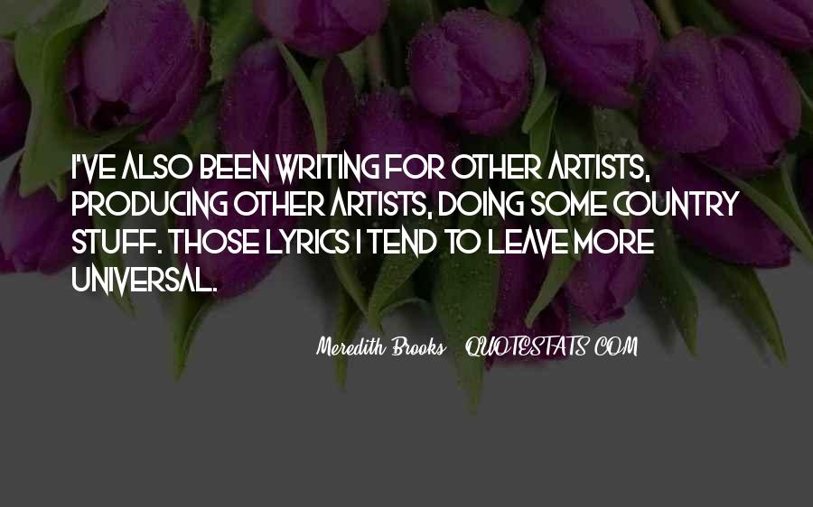 Meredith Brooks Quotes #681063