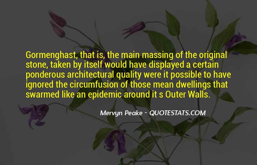 Mervyn Peake Quotes #859743