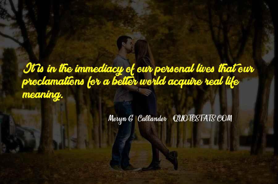 Meryn G. Callander Quotes #104193