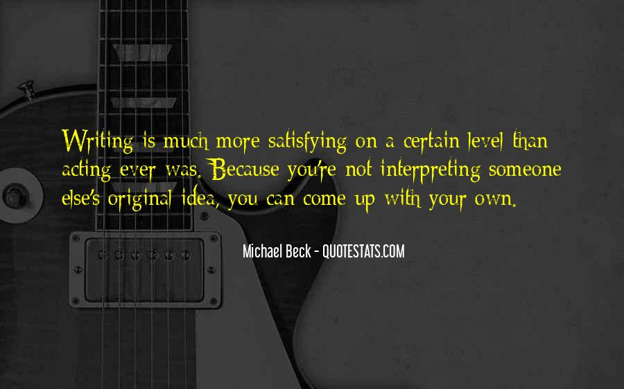 Michael Beck Quotes #259505