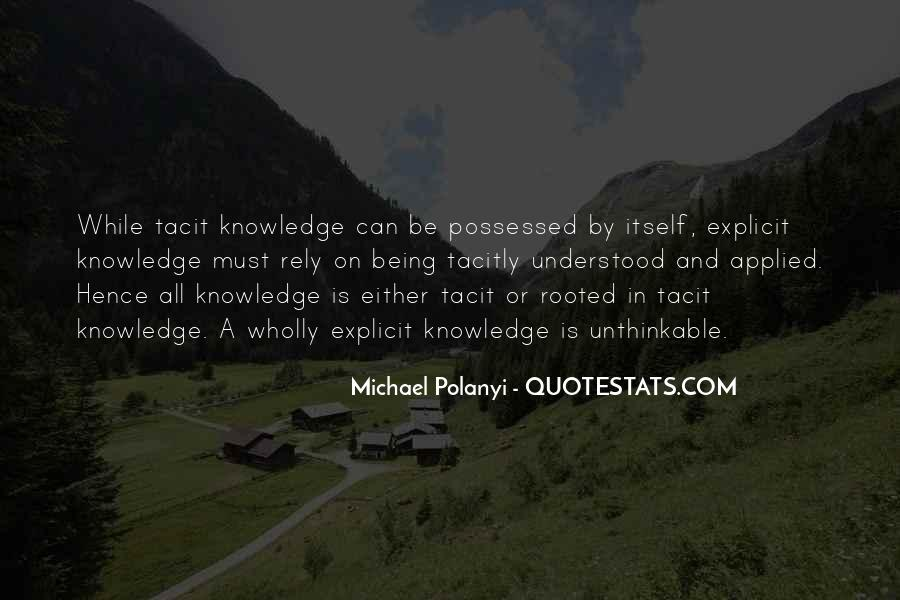Michael Polanyi Quotes #1081308