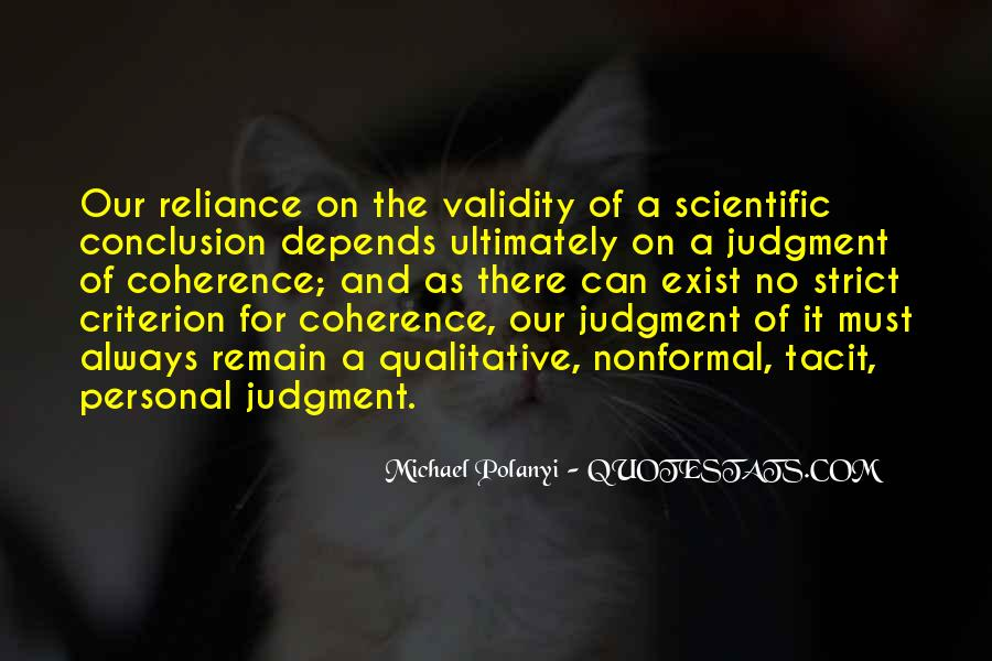 Michael Polanyi Quotes #491007