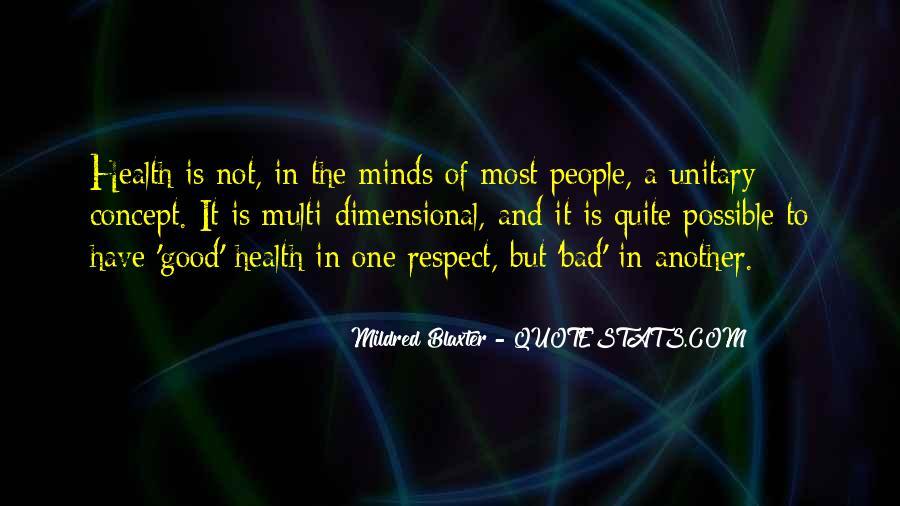 Mildred Blaxter Quotes #550710