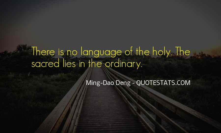 Ming-Dao Deng Quotes #861030