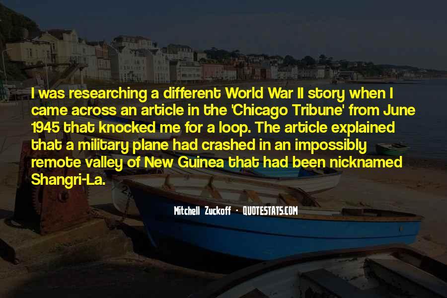 Mitchell Zuckoff Quotes #298774