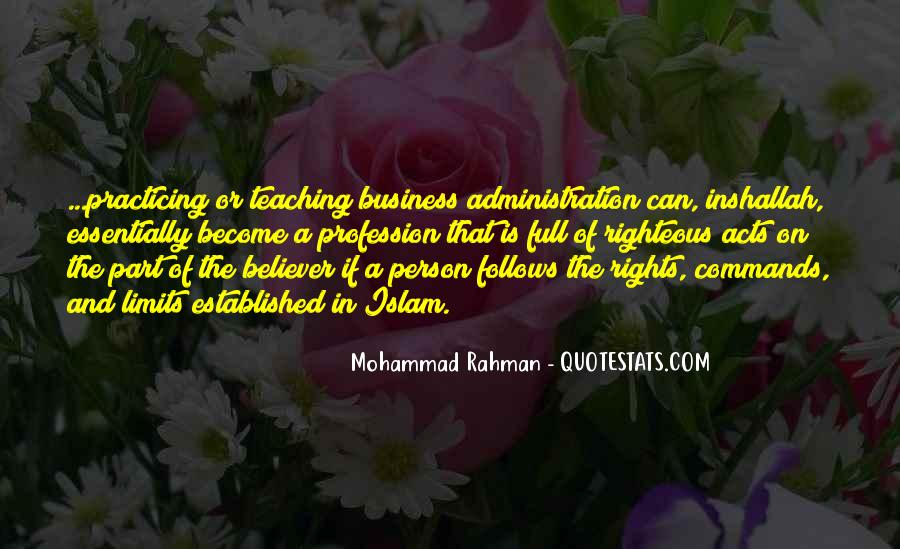 Mohammad Rahman Quotes #776912