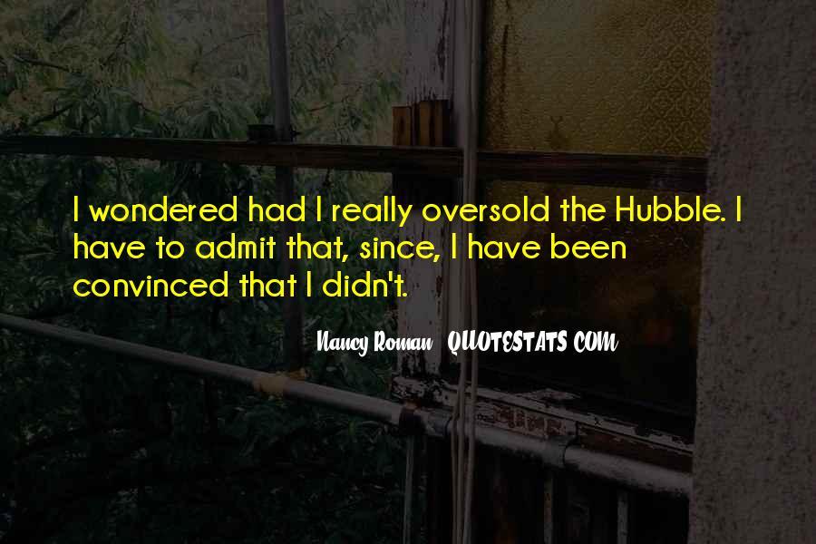 Nancy Roman Quotes #1720118
