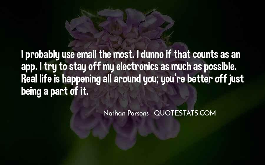 Nathan Parsons Quotes #826928