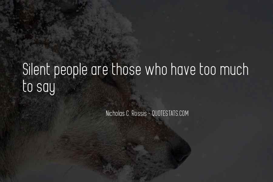 Nicholas C. Rossis Quotes #219827