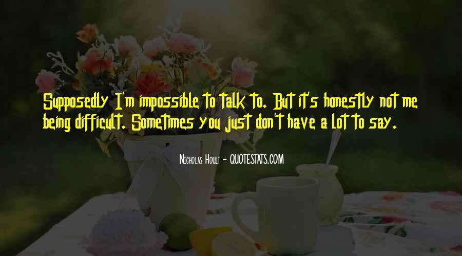 Nicholas Hoult Quotes #24707