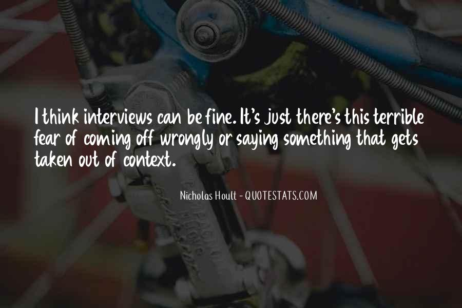Nicholas Hoult Quotes #625900