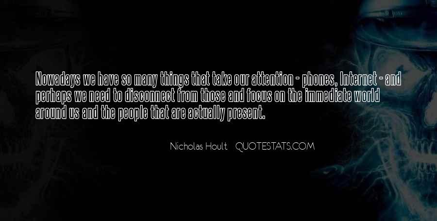 Nicholas Hoult Quotes #922552