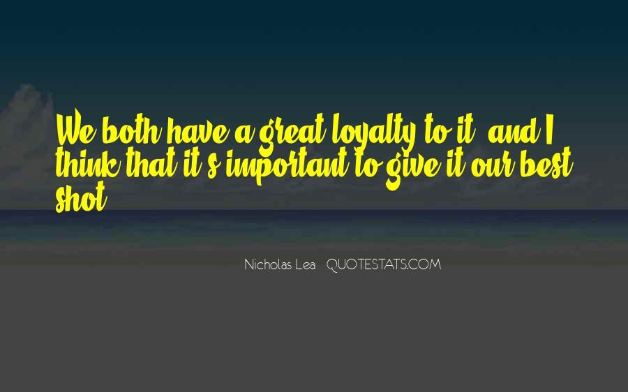 Nicholas Lea Quotes #1717617