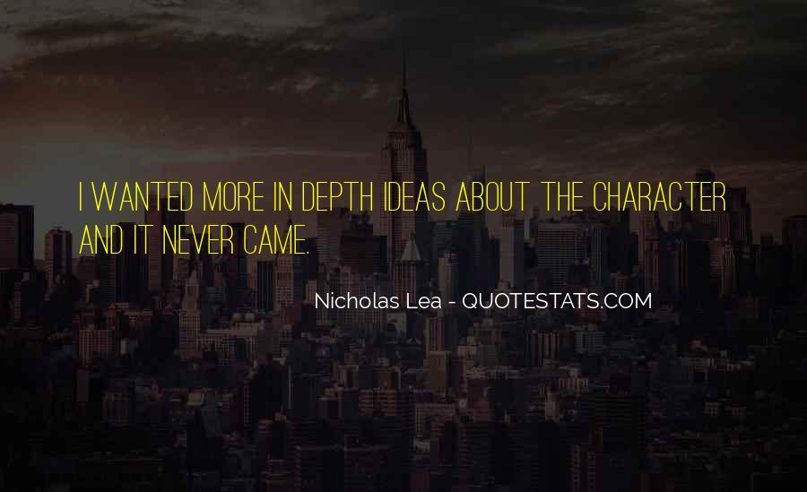 Nicholas Lea Quotes #188335