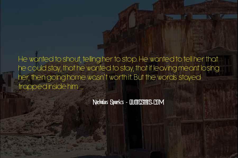 Nicholas Sparks Quotes #1729869