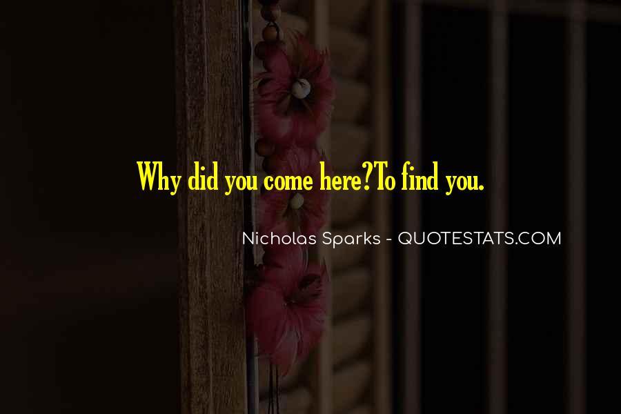 Nicholas Sparks Quotes #376651