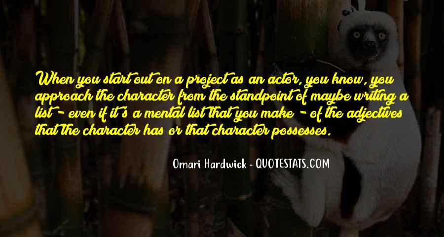 Omari Hardwick Quotes #439760
