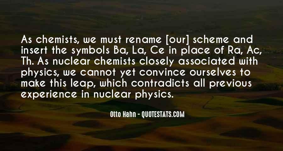 Otto Hahn Quotes #1640572