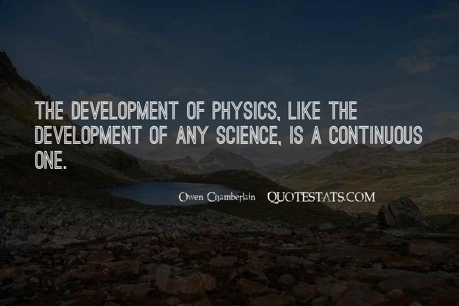 Owen Chamberlain Quotes #1614222