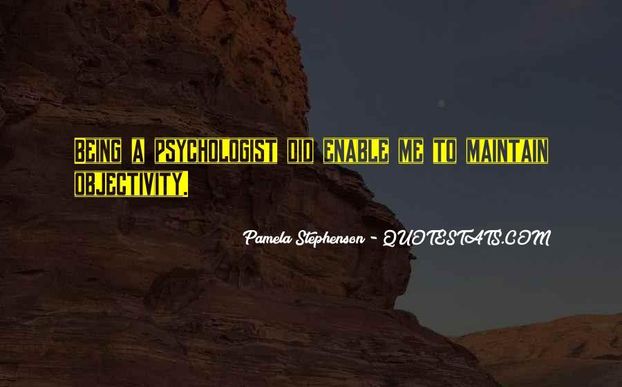 Pamela Stephenson Quotes #896986
