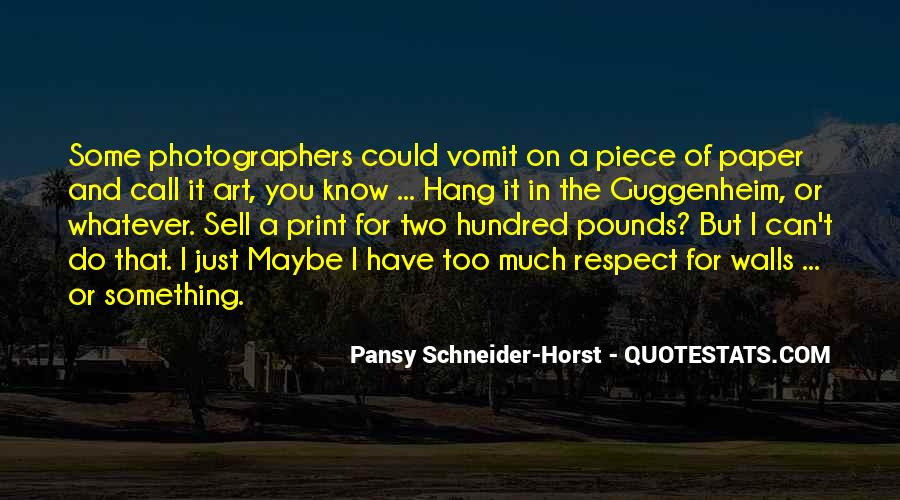 Pansy Schneider-Horst Quotes #866971