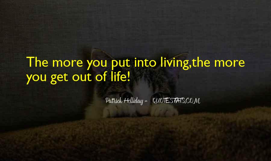 Patrick Holliday Quotes #1358667