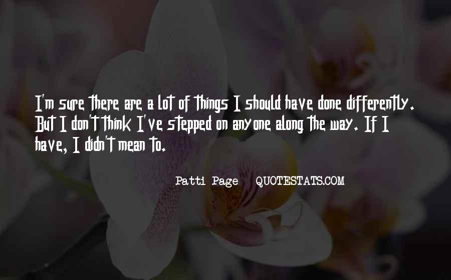 Patti Page Quotes #304890