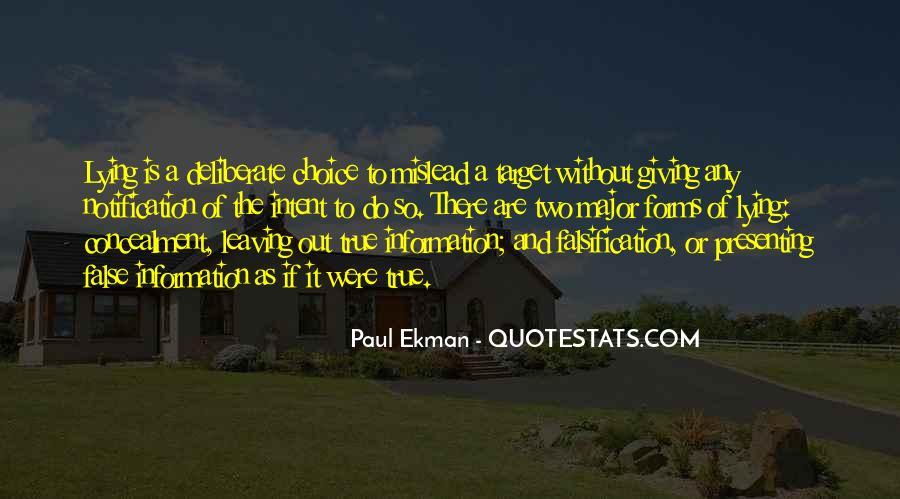 Paul Ekman Quotes #1621682