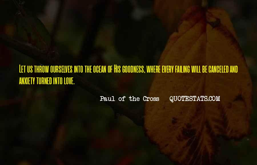 Paul Of The Cross Quotes #722980