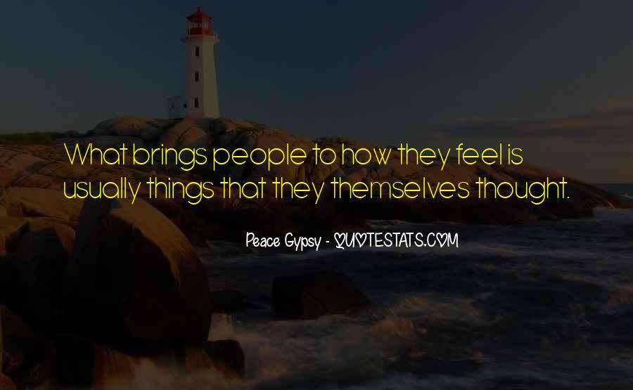 Peace Gypsy Quotes #589598