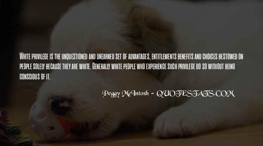 Peggy McIntosh Quotes #882265