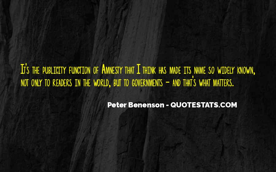 Peter Benenson Quotes #399772