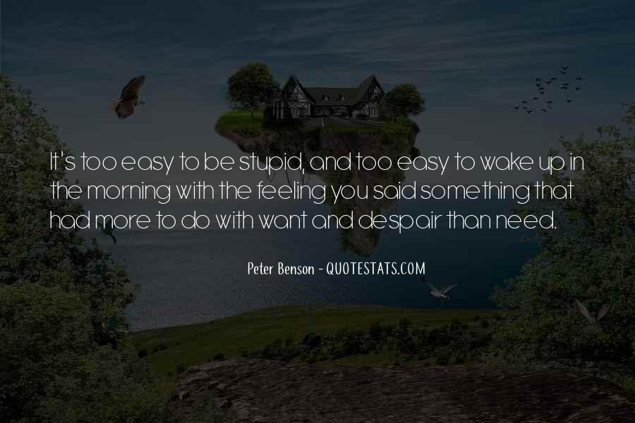 Peter Benson Quotes #954082