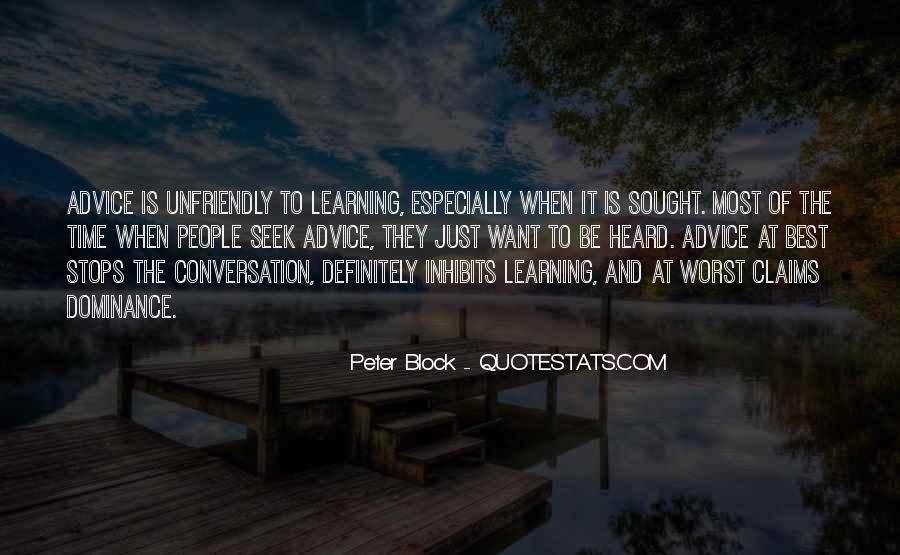 Peter Block Quotes #1656886