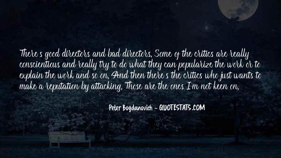 Peter Bogdanovich Quotes #804729
