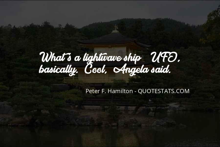 Peter F. Hamilton Quotes #679777