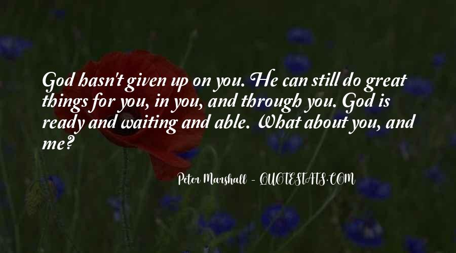 Peter Marshall Quotes #749389