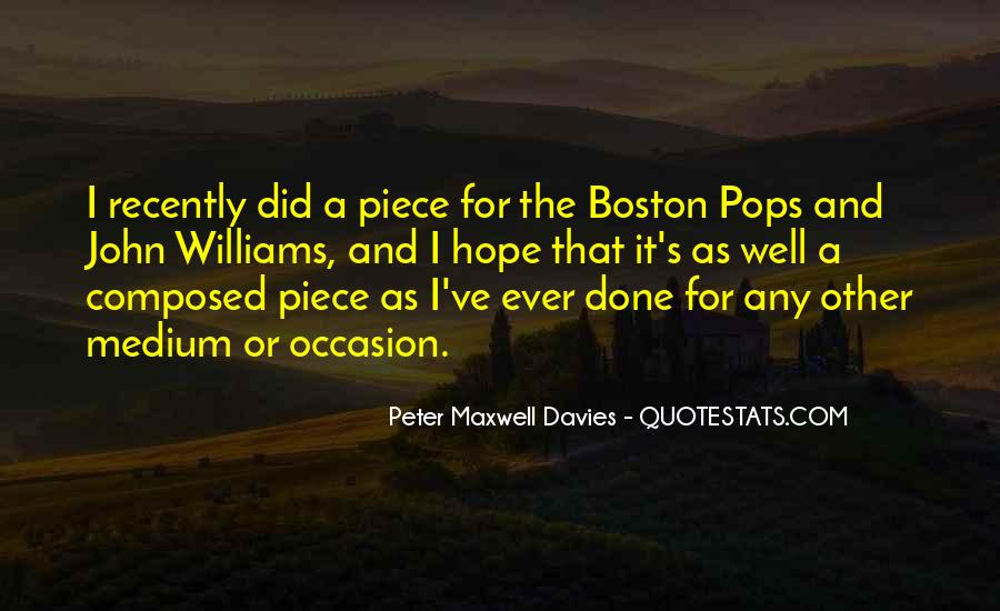 Peter Maxwell Davies Quotes #863424