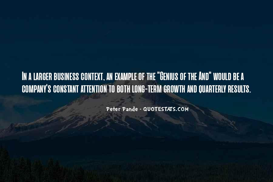 Peter Pande Quotes #1841563