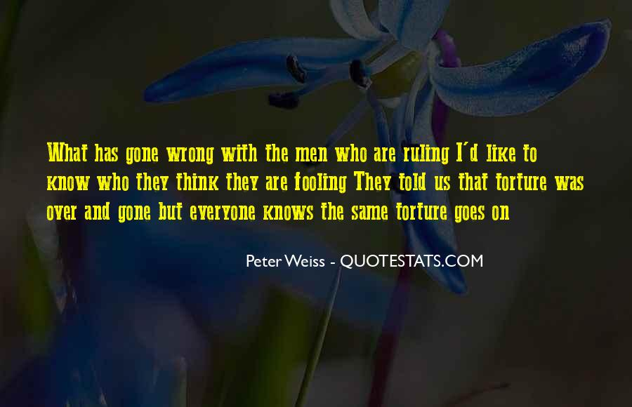 Peter Weiss Quotes #1737403