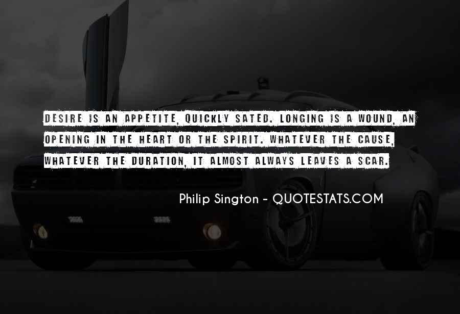 Philip Sington Quotes #1669254